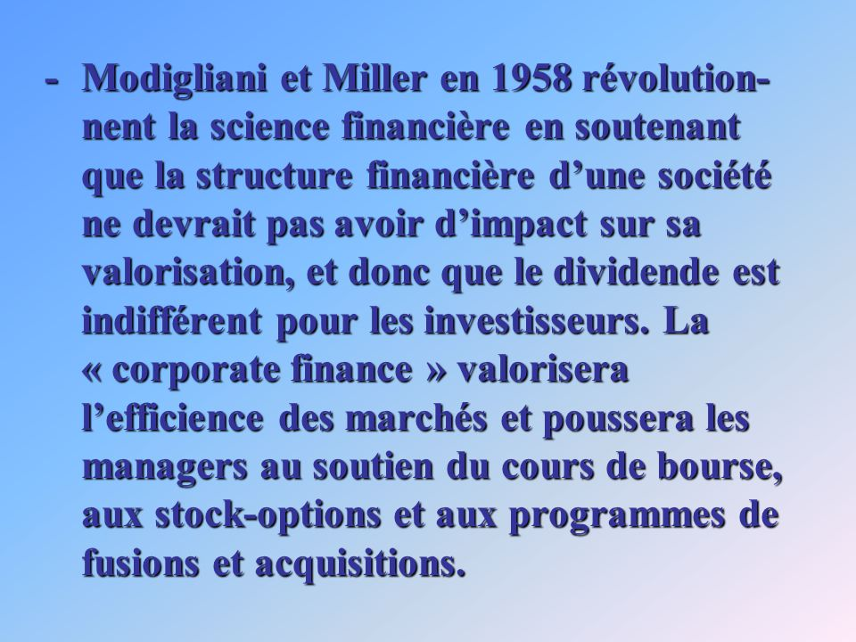 -En 1985, louvrage de Williamson : « The Economic Institutions of Capitalism » est salué par Chandler comme le meilleur ouvrage depuis ceux de Shumpeter pour comprendre lévolution des institutions modernes.
