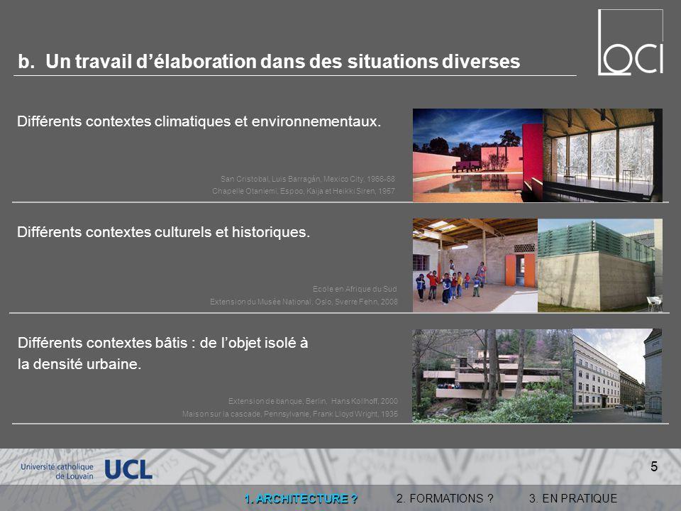 2.DES FORMATIONS . 3. EN PRATIQUE1. ARCHITECTURE .