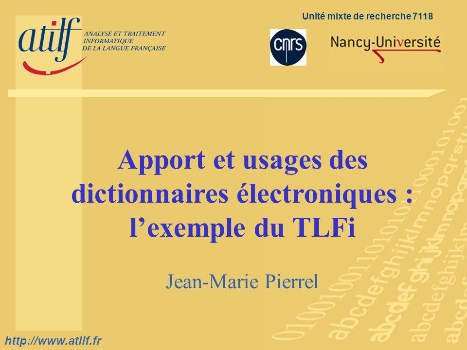 http://www.atilf.fr prenom.nom@atilf.fr http://www.atilf.fr Titre de la diapositive http://www.atilf.fr Unité mixte de recherche 7118 Accueil diaporam
