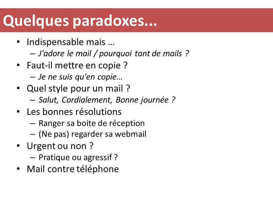 Quelques paradoxes...Indispensable mais … – J adore le mail / pourquoi tant de mails .