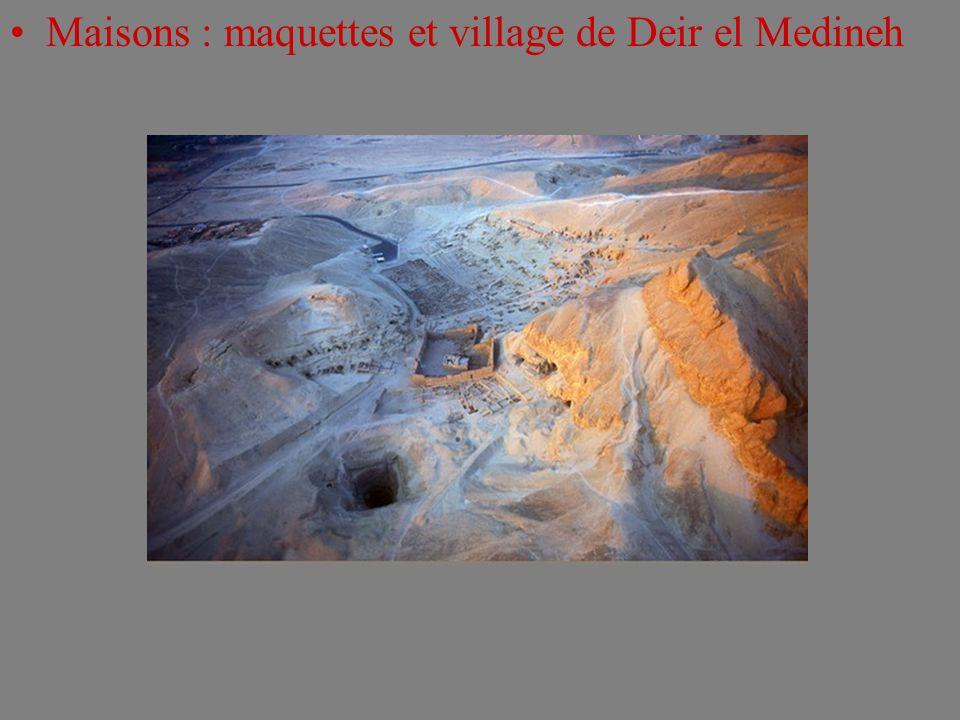 Maisons : maquettes et village de Deir el Medineh