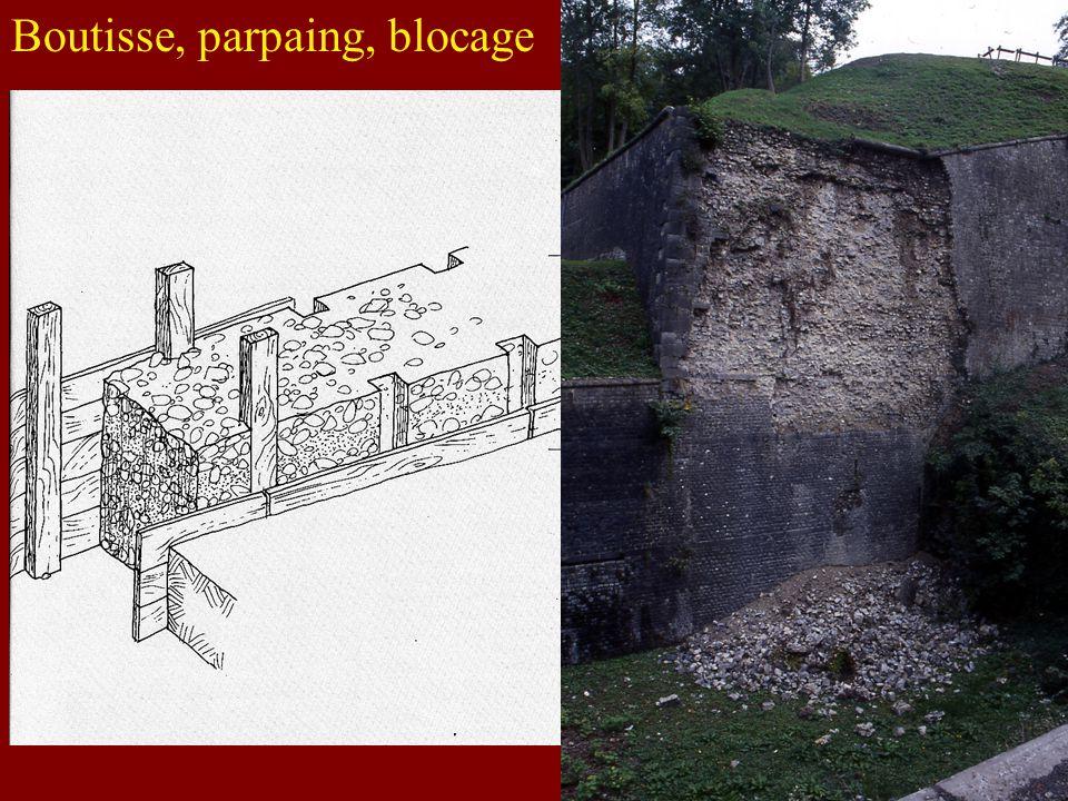 Boutisse, parpaing, blocage