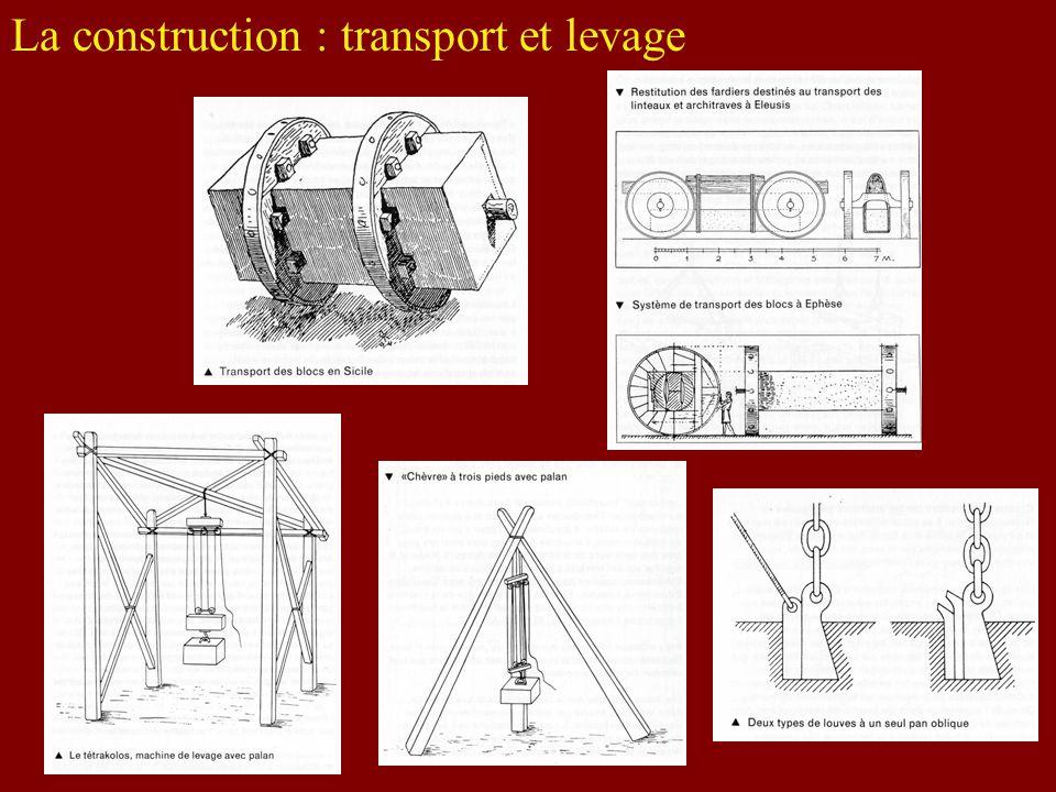 La construction : transport et levage