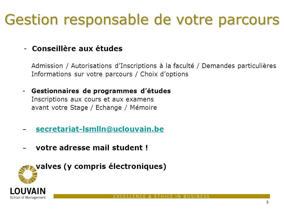 - Conseillère aux études Admission / Autorisations dInscriptions à la faculté / Demandes particulières Informations sur votre parcours / Choix doption