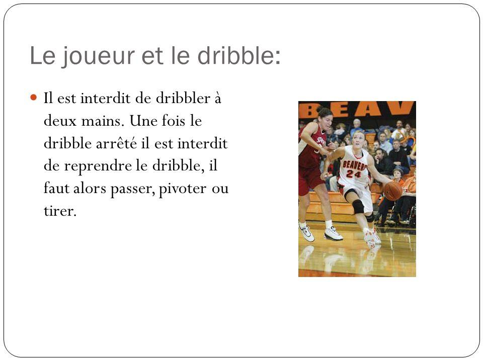 Le joueur et le dribble: Il est interdit de dribbler à deux mains.