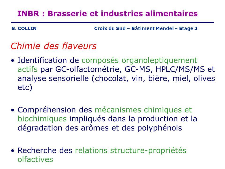 INBR : Brasserie et industries alimentaires S. COLLIN Chimie des flaveurs Identification de composés organoleptiquement actifs par GC-olfactométrie, G