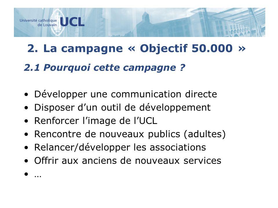 2.La campagne « Objectif 50.000 » 2.1 Pourquoi cette campagne .