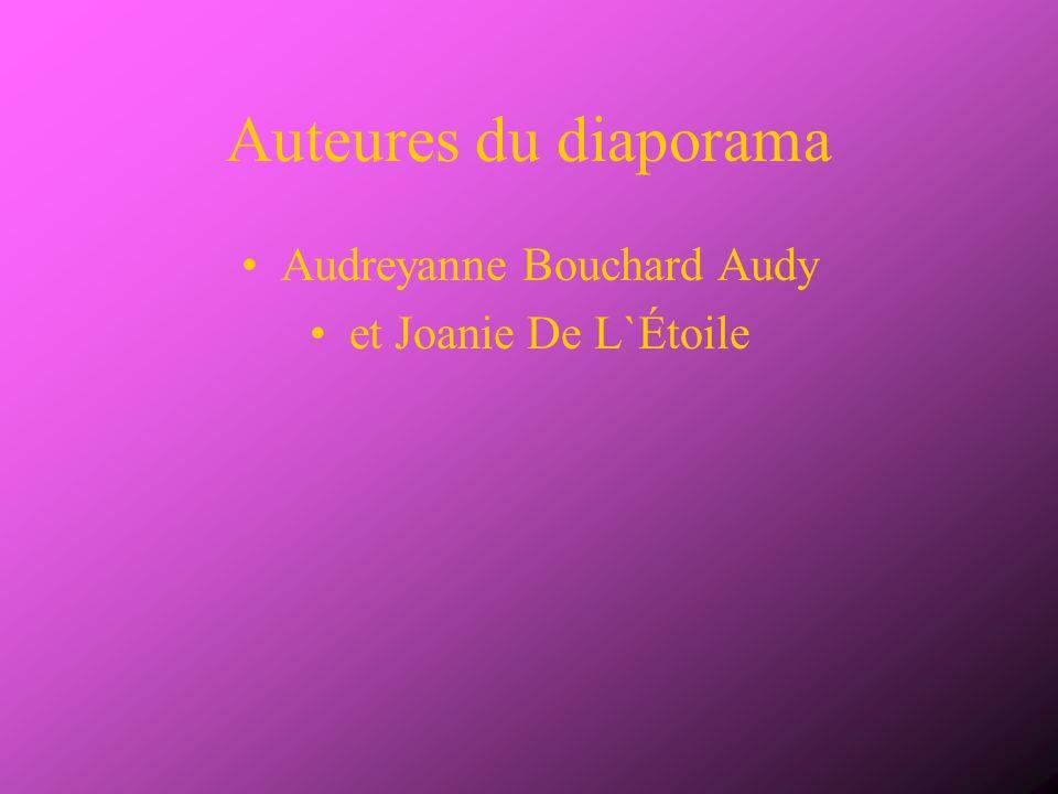Auteures du diaporama Audreyanne Bouchard Audy et Joanie De L`Étoile