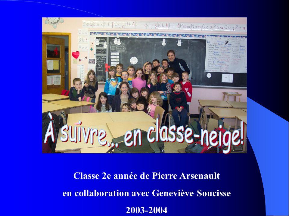 Classe 2e année de Pierre Arsenault en collaboration avec Geneviève Soucisse 2003-2004