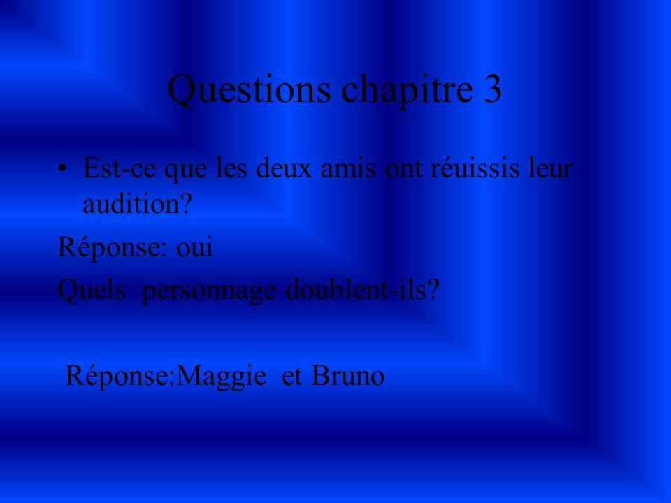 Questions chapitre2 Est-ce que l ami de Soazig voulait,lui aussi faire ce qui avait été offert cette dernière Réponse; oui.