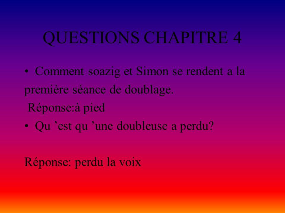 Questions chapitre 3 Est-ce que les deux amis ont réuissis leur audition.