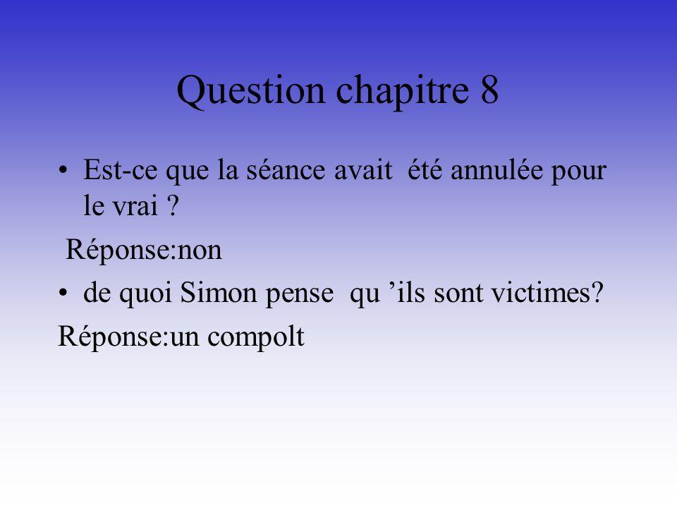 Questions chapitre 7 Qui a appelé pour dire à Soazig que la séance de doublage du lendemain était annulée.