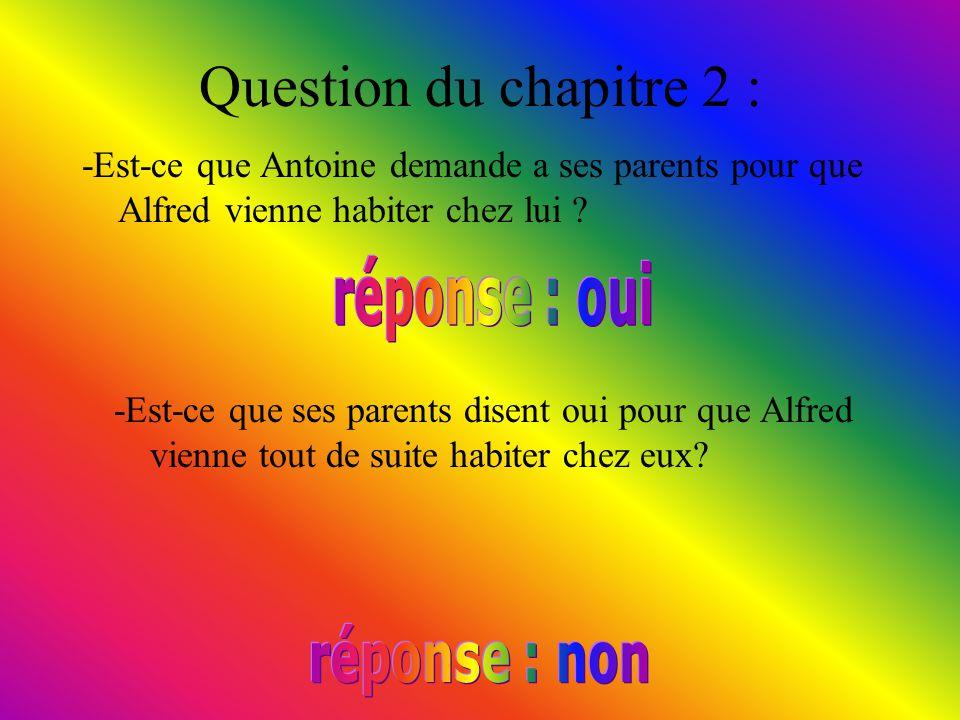 Question du chapitre 1 : -Est-ce que Antoine rencontre tout de suite le rat gris ?