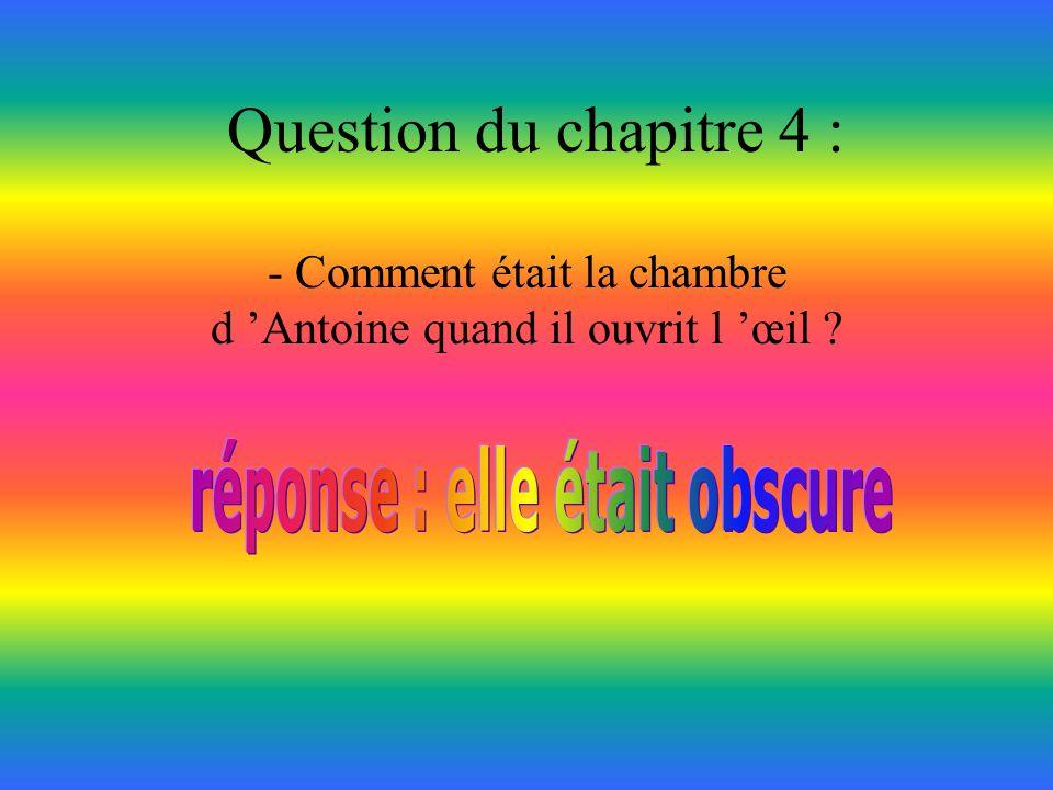Question du chapitre 3 : -Combien de fois Alain a-t-il taquiné son frère ?