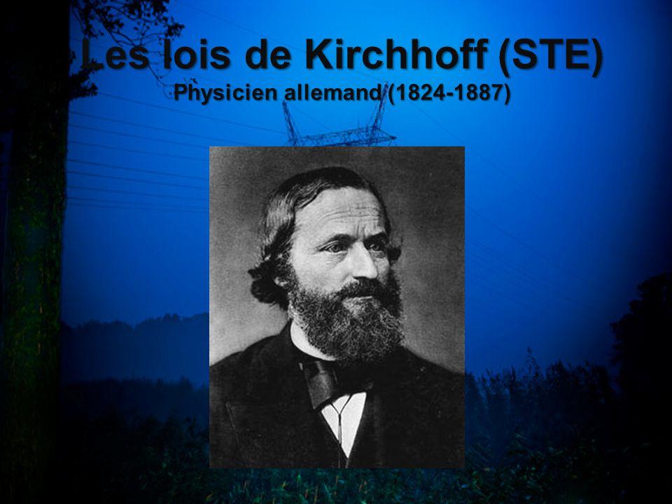 Les lois de Kirchhoff (STE) Physicien allemand (1824-1887)