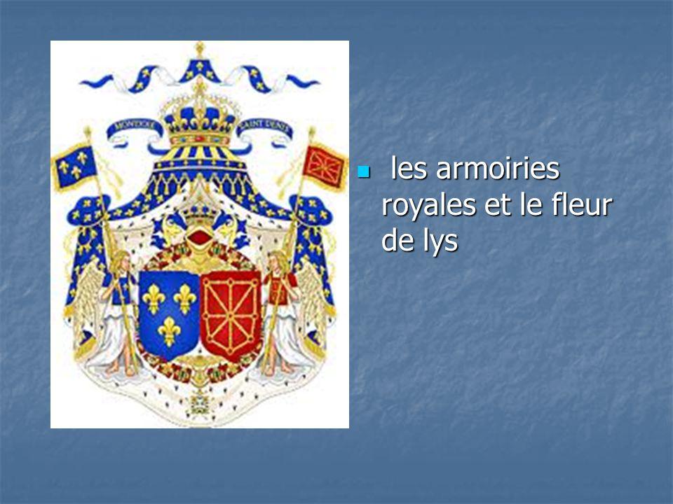 les armoiries royales et le fleur de lys les armoiries royales et le fleur de lys