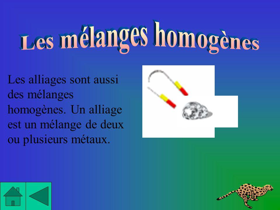 Un mélange limpide signifie que lon peut voir à travers. Donc, tous les mélanges homogènes sont obligatoirement limpides. Mais il y a une exception: l
