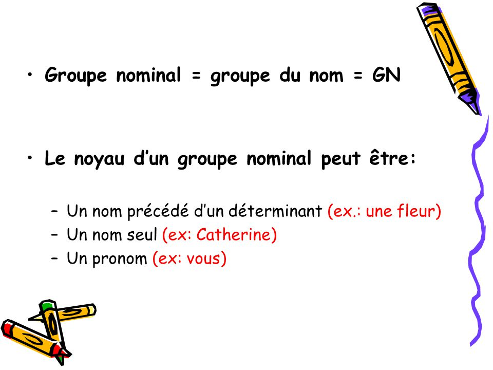 date Le groupe nominal