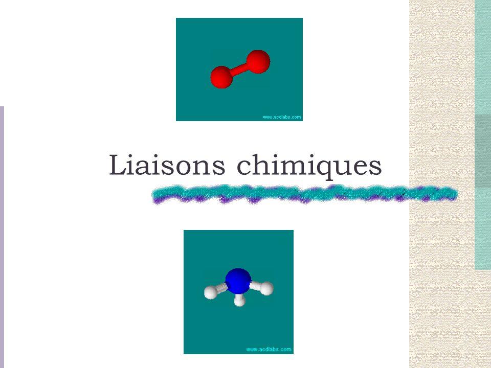 Liaisons chimiques