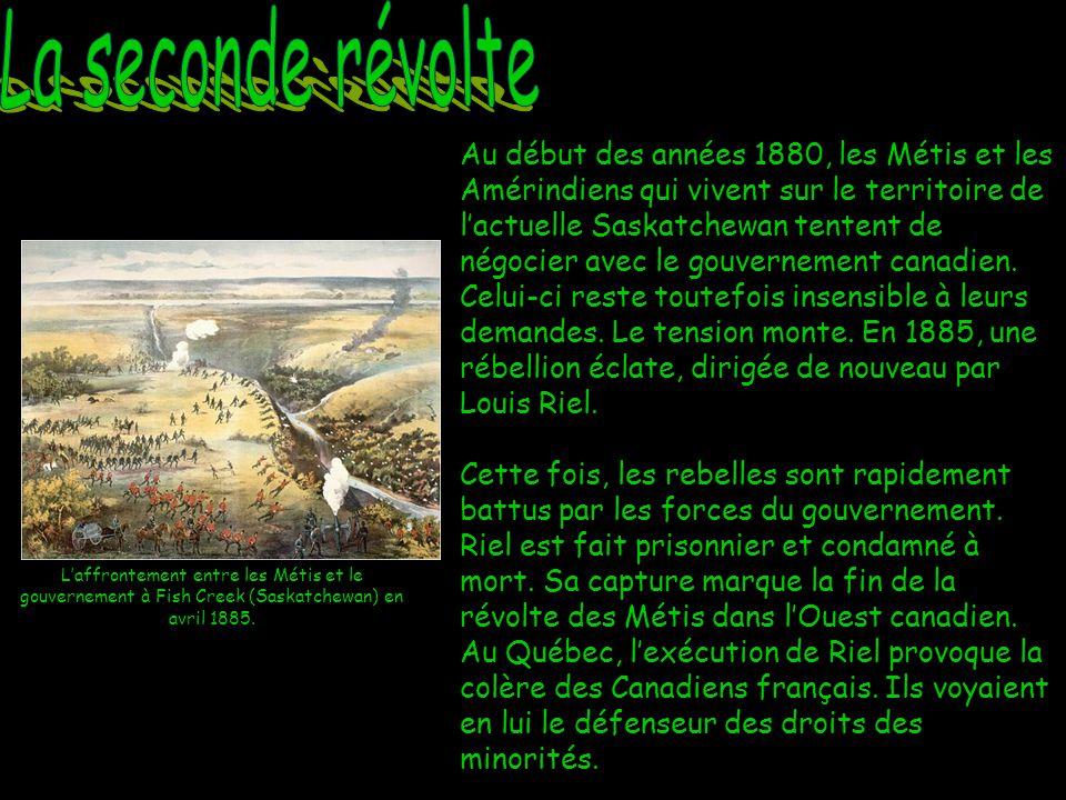 Jai mené deux révoltes armées contre le gouvernement canadien pour défendre les droits des Métis.