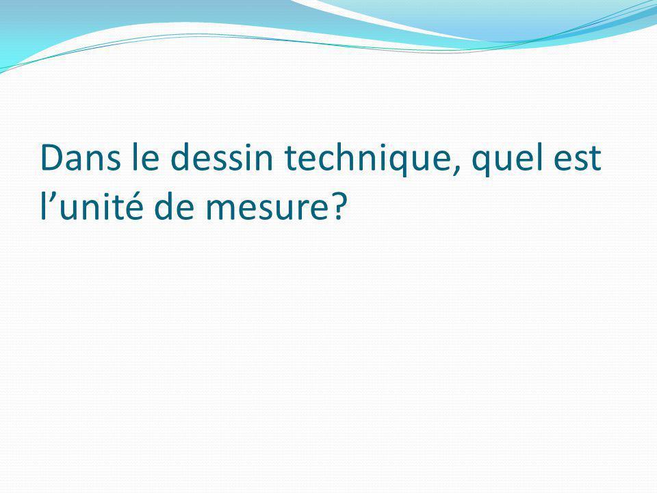 Dans le dessin technique, quel est lunité de mesure?
