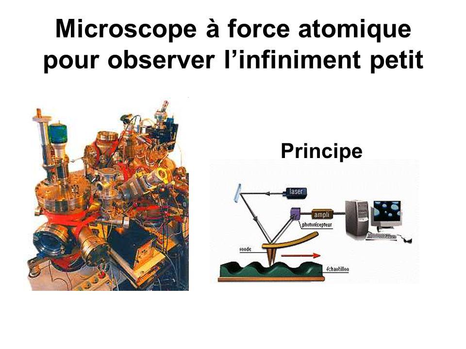 Microscope à force atomique pour observer linfiniment petit Principe