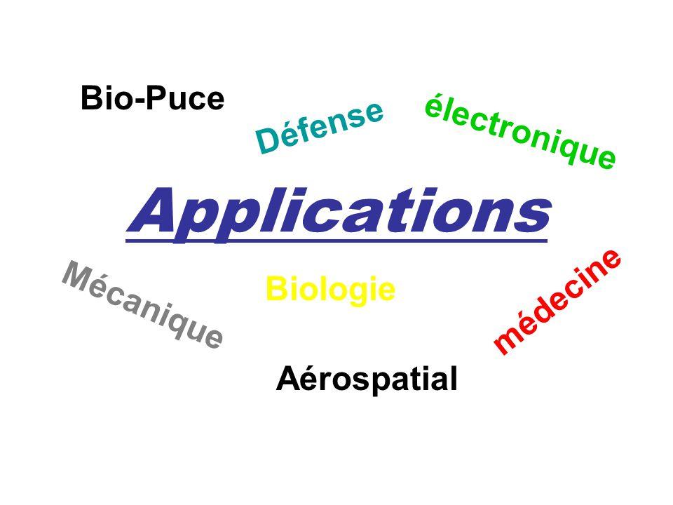 Applications médecine électronique Bio-Puce Mécanique Biologie Défense Aérospatial