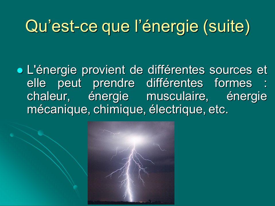Loi de conservation de lénergie L énergie ne peut ni se créer ni se détruire mais uniquement se transformer d une forme à une autre ou être échangée d un système à un autre.