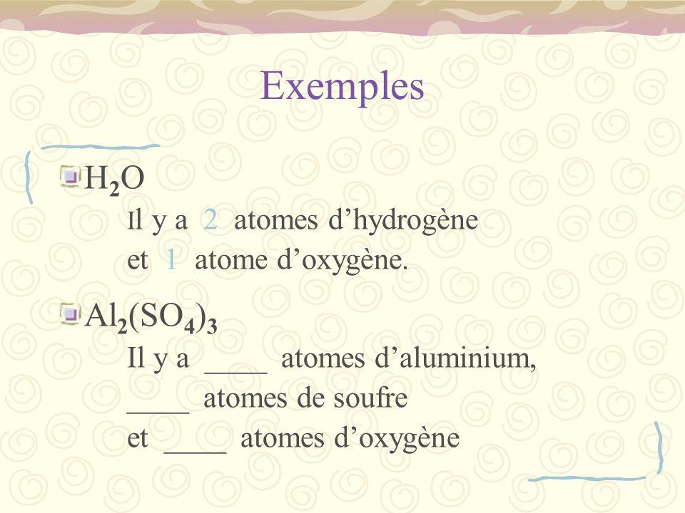 Exemple N 2 + 3H 2 2NH 3 Donc 2 atomes de N de chaque côté, et 6 atomes de H de chaque côté.
