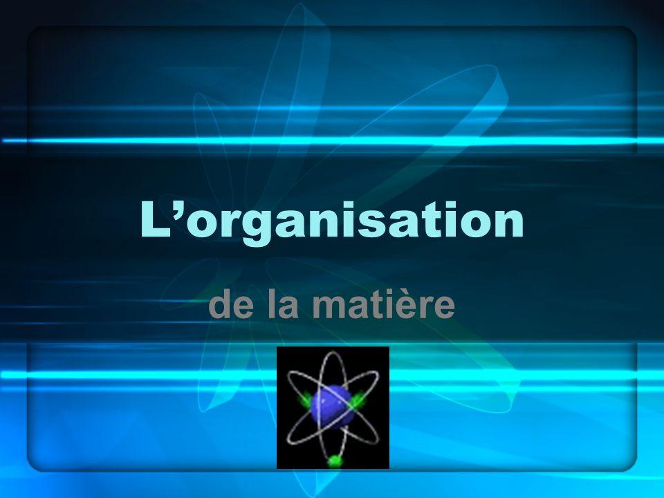 Lorganisation de la matière