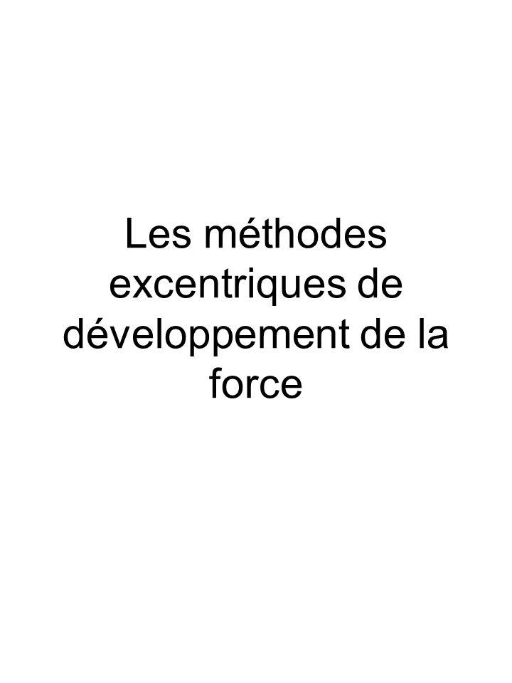 Les méthodes excentriques de développement de la force