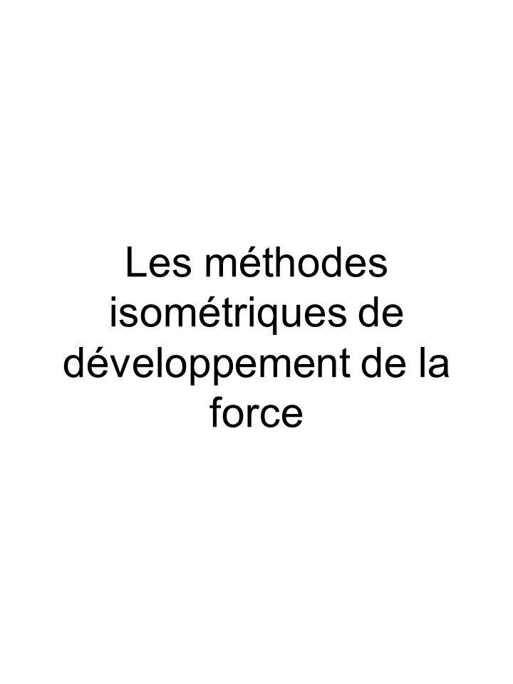 Les méthodes isométriques de développement de la force