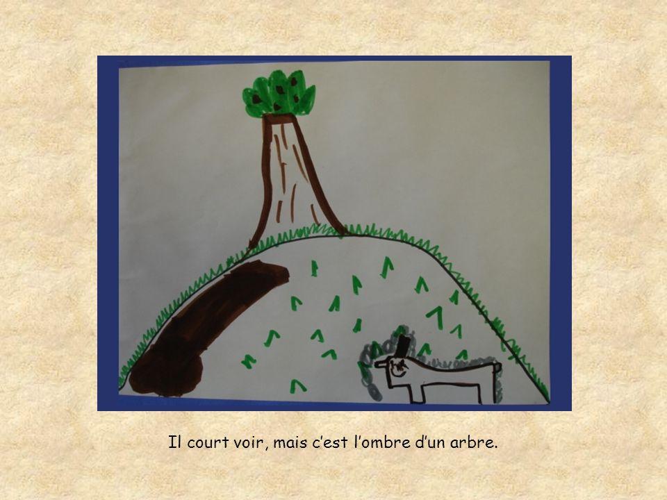 Il court voir, mais cest lombre dun arbre.