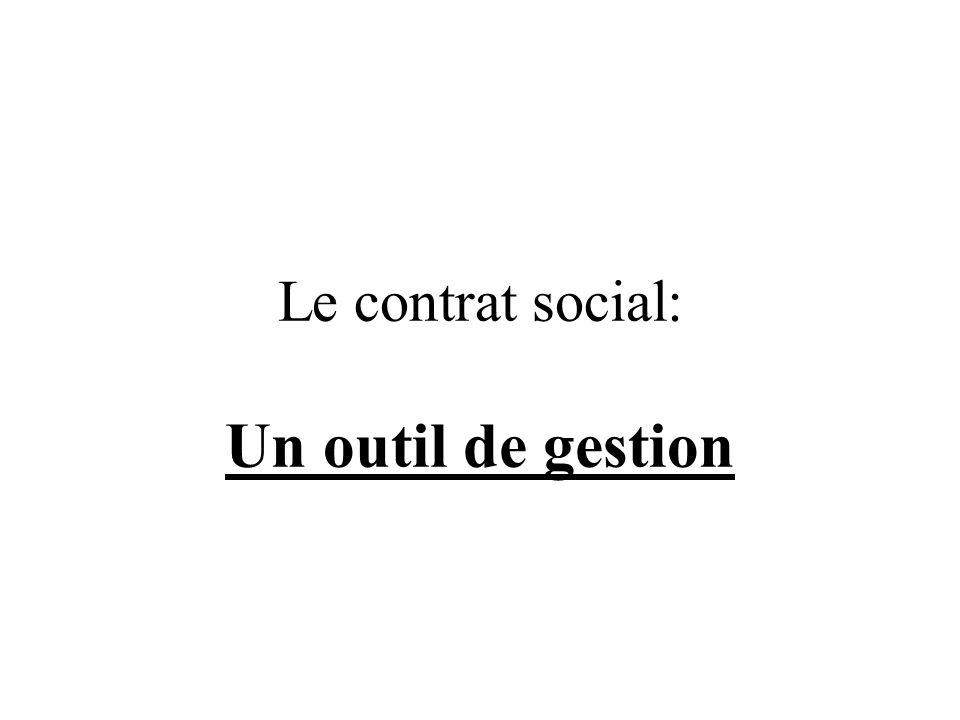 Le contrat social: Un outil de gestion