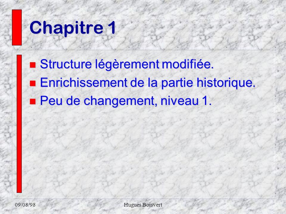 09/08/98Hugues Boisvert Chapitre 10 n Entièrement remanié.