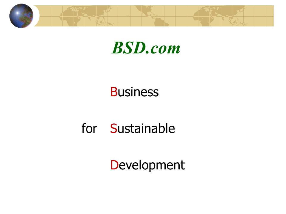 BSD.com Business forSustainable Development