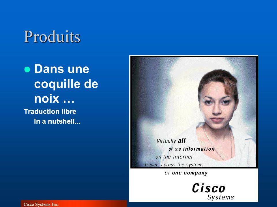 Cisco Systems Inc.Produits Dans une coquille de noix … Traduction libre In a nutshell...