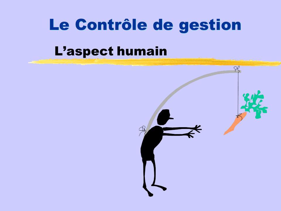 Le Contrôle de gestion Laspect humain