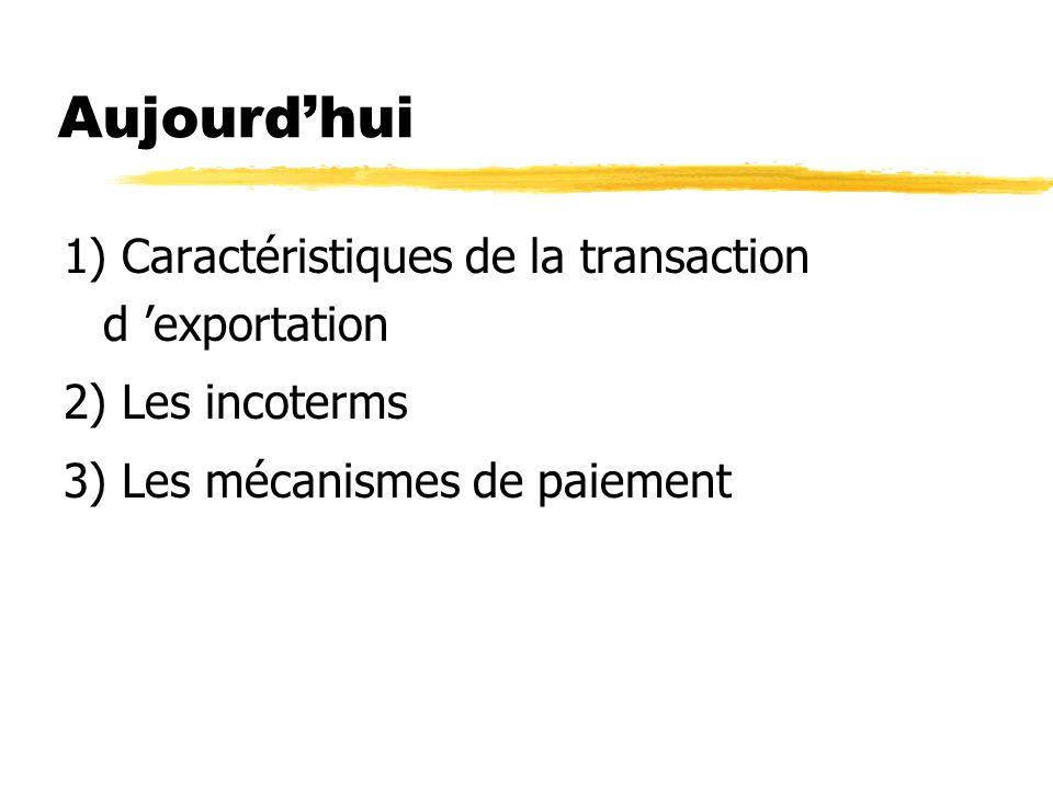 Caractéristiques de la transaction d exportation Déf : une exportation est une vente qui se distingue d une vente domestique par le fait quelle franchit des frontières linguistiques et culturelles, douanières, monétaires et juridiques.