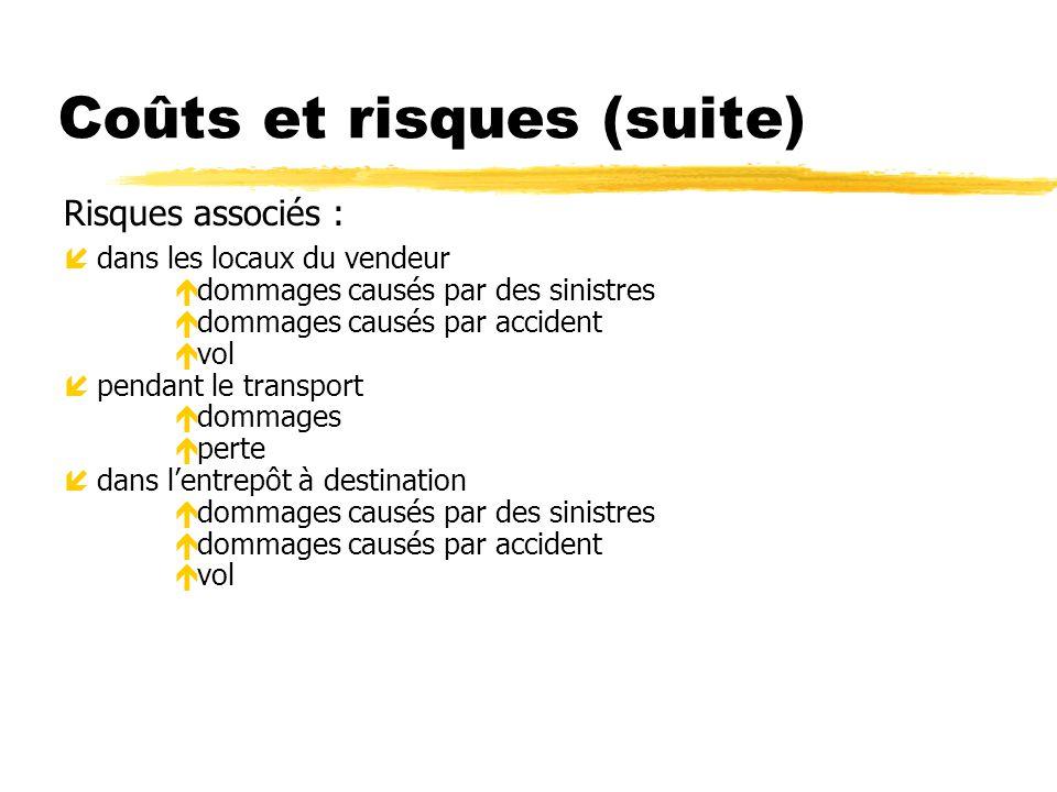 Les critères de livraison 1) Avis de mise à disposition Sans cet avis, le client ne peut pas planifier l enlèvement de la marchandise.