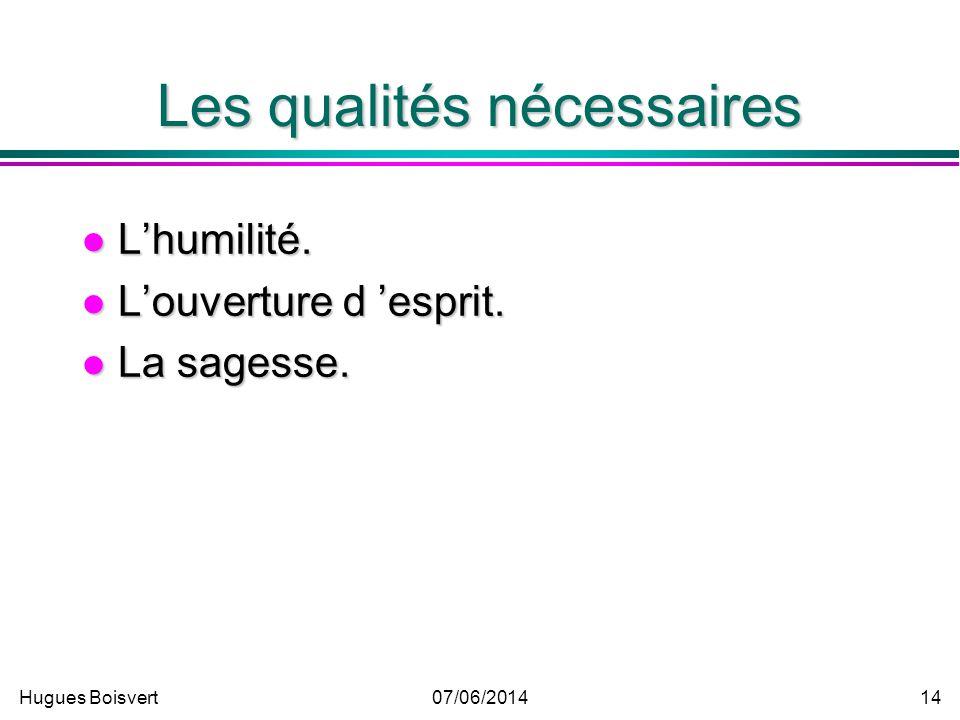 Hugues Boisvert07/06/2014 13 Les coûts du benchmarking La formation, la recherche, la collecte et lanalyse des données. La formation, la recherche, la