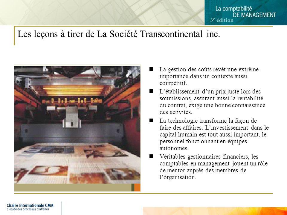 9 Les leçons à tirer de La Société Transcontinental inc.