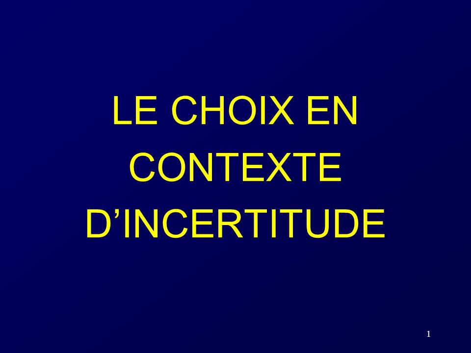 1 LE CHOIX EN CONTEXTE DINCERTITUDE