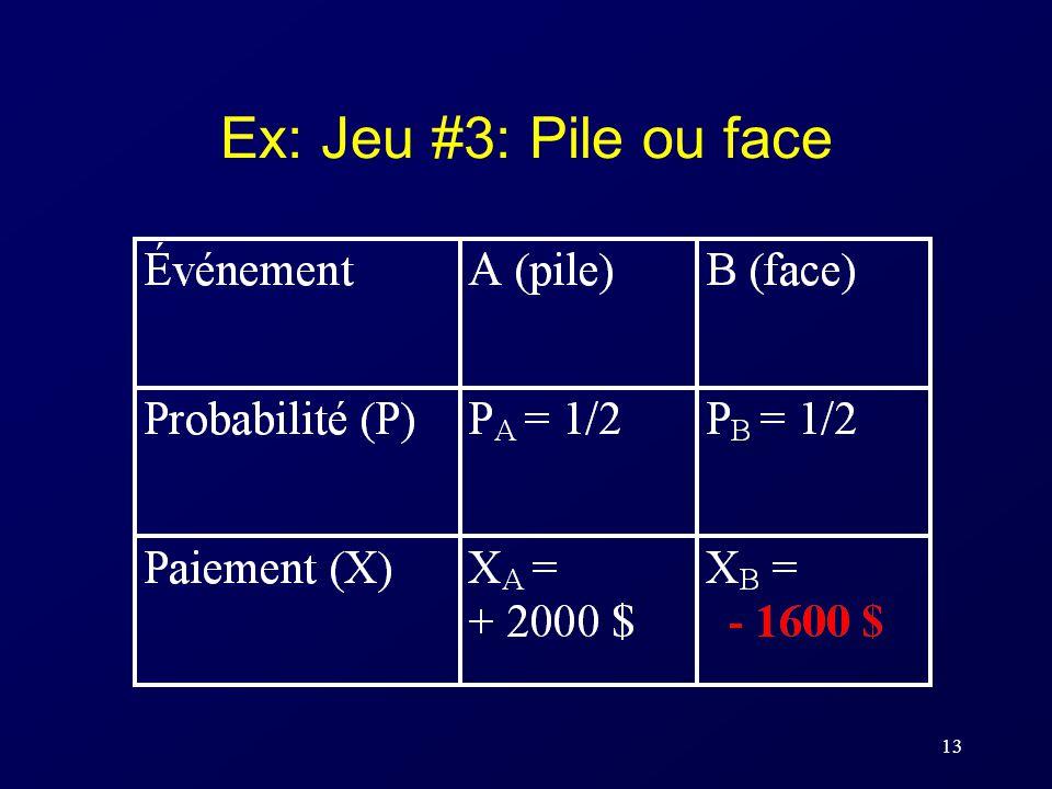 13 Ex: Jeu #3: Pile ou face