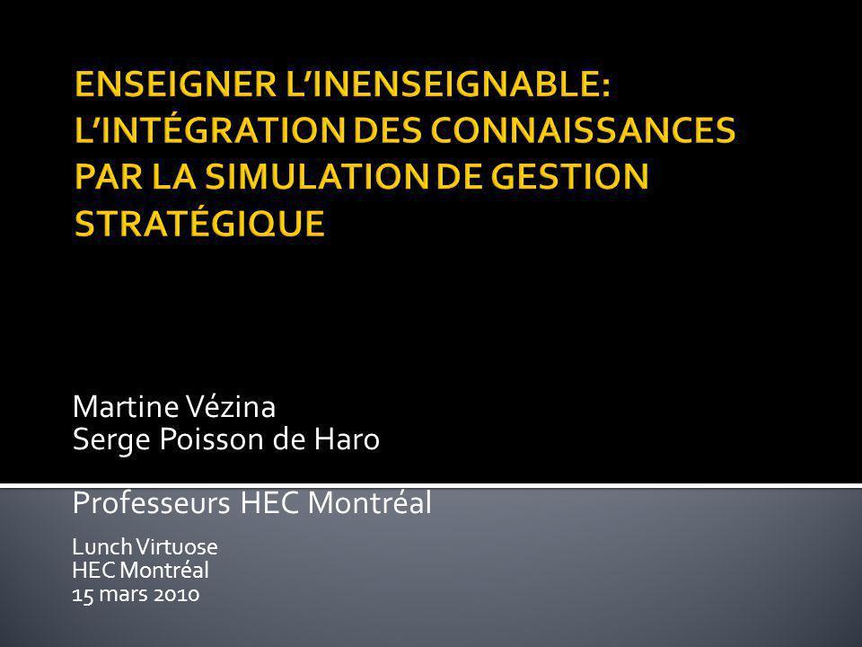 Martine Vézina Serge Poisson de Haro Professeurs HEC Montréal Lunch Virtuose HEC Montréal 15 mars 2010