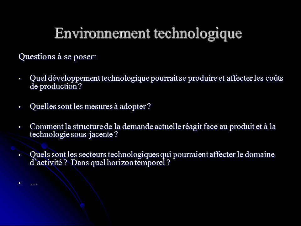 Toute connaissance venant de lextérieur du micro- environnement qui permet de faire progresser ou risque de menacer les activités de lentreprise Toute
