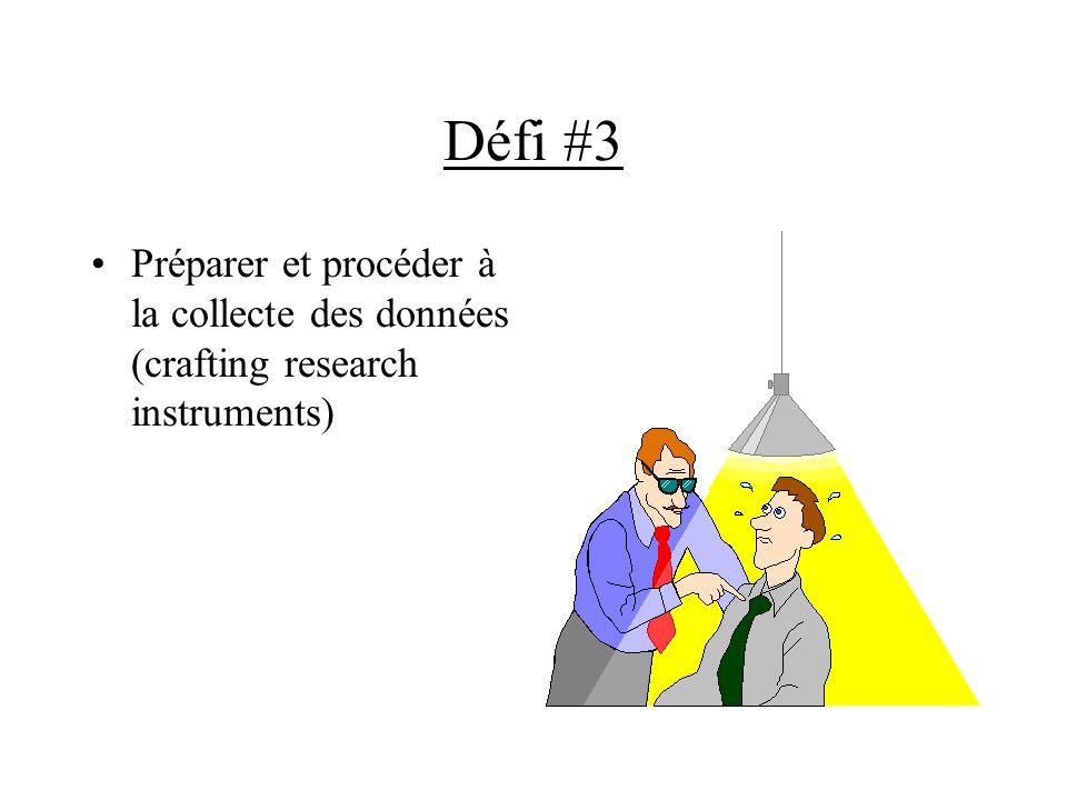 Défi #3 Préparer et procéder à la collecte des données (crafting research instruments)