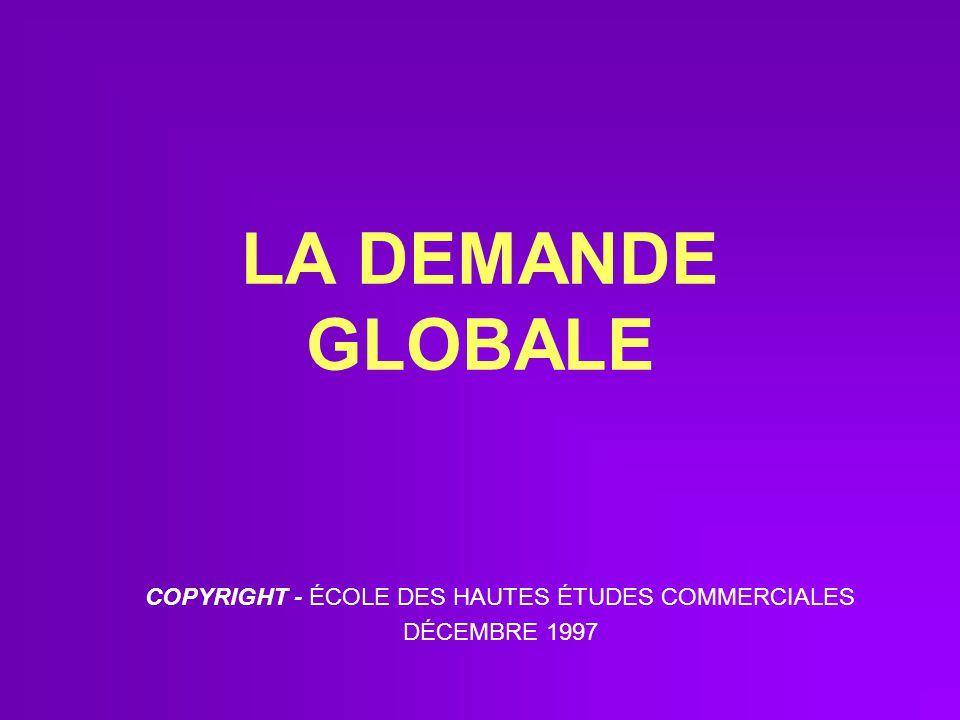LA DEMANDE GLOBALE COPYRIGHT - ÉCOLE DES HAUTES ÉTUDES COMMERCIALES DÉCEMBRE 1997