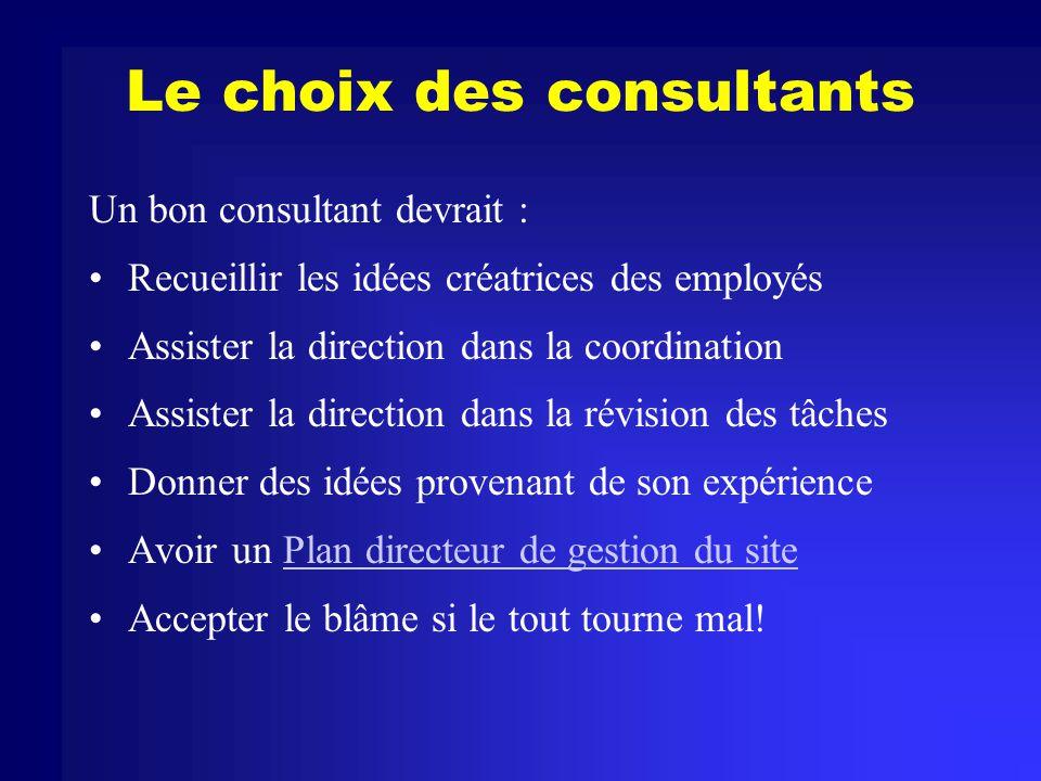 Quelques sites de consultants Le Groupe MRT Professional Computer Services Technical Data Management