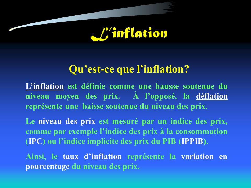 Linflation Quest-ce que linflation.